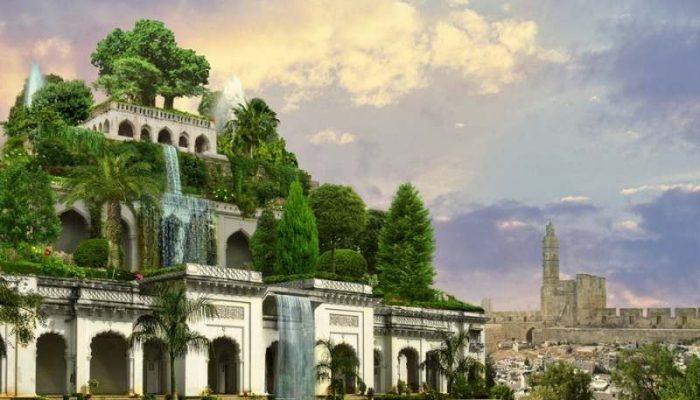 висячие сады семирамиды картинка