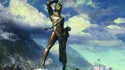 Реконструкция возможного вида статуи