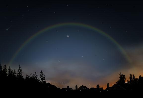 фотография явления лунной радуги