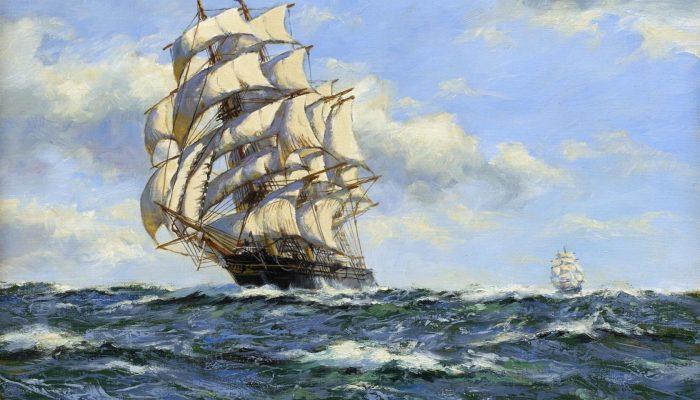 Ветер наполняет паруса