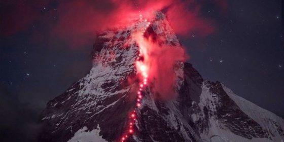 Экстремальная фотосессия на горе маттерхорн